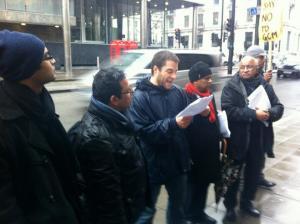 Chris Kitchen reads out eviction letter 20 Dec 2012