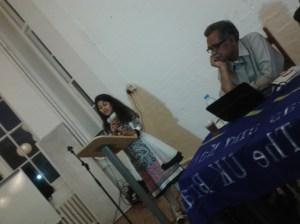 Rumana Hashem, the Coordinator  of Phulbari Solidarity Group on 28 Sep 2014 . Photo credit:  Paul Dudman
