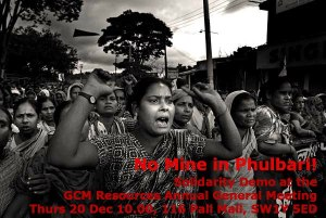 Locals cried out to save their homes, lands and lives in Phulbari following the shooting by GCM-provoked shooting by Bangladesh paramilitary. Photo: 27 August 2006
