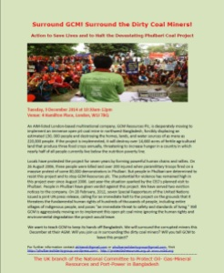 Phulbari Demo Flyer 2014