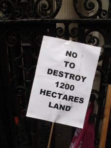 Placard used in a protest against the exploitative British company. Photo: Golam Rabbani