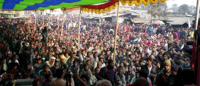 Grand rally  of locals in Phulbari town on 27 December 2014. Photo credit: Kallol Mustafa