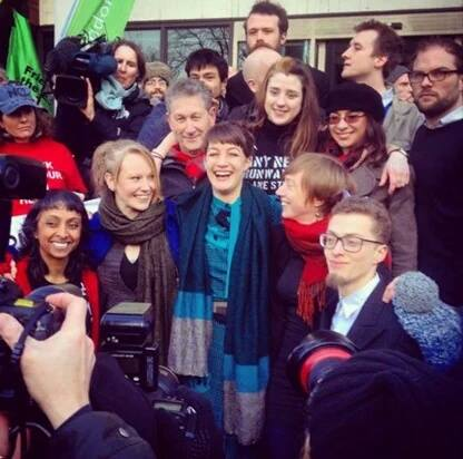 The #Heathrow13 returns  from the court by averting jail on 24 Feb 2016