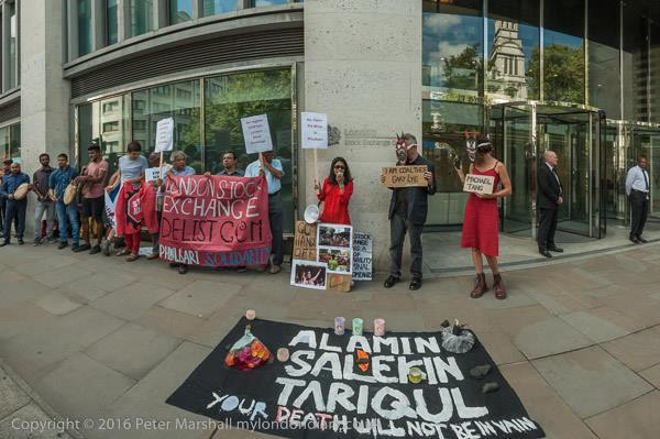 Commemoration and celebration go together at London Stock Exchange 26 August 2016 Photocredit Peter Marshall