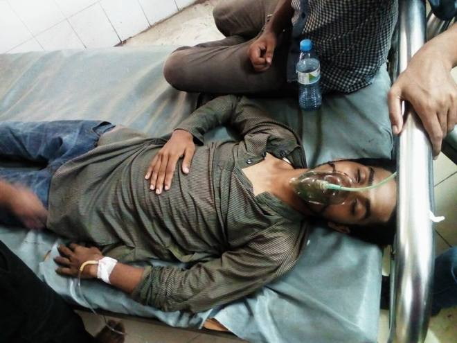 environmental activist tortured by facist police in Dhaka on 28 July 2016