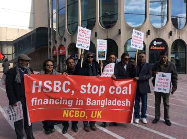 Image result for HSBC AGM fossil fuels protest